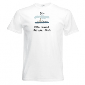 "T-shirt "" Lega Navale Lerici "" bianca"
